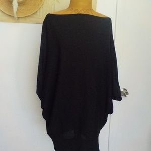 Talbots Black Merino Wool Poncho/Shawl Sweater